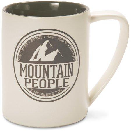 Gray Ceramic - We People Gray Mountain People Ceramic 18 oz Mug