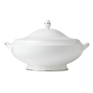 Wedgwood Signet Platinum #501671 Covered Vegetable - Round ()