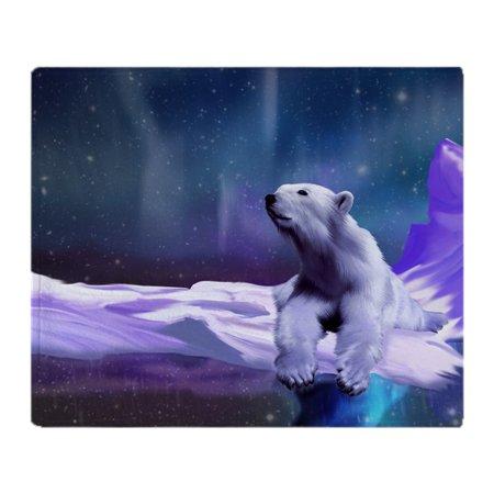 CafePress - Contemplative Polar Bear - Soft Fleece Throw Blanket, 50