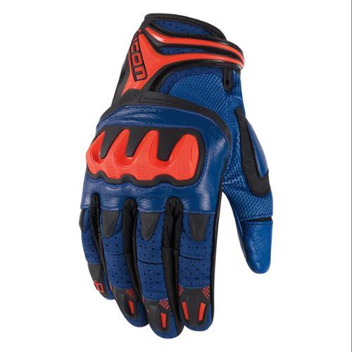 Icon Overlord Resistance Short Gloves Blue/Orange