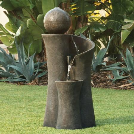 John Timberland Modern Sphere Zen Outdoor Floor Water Fountain 39 1/2