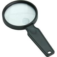 "Carson MagniView 2x Handheld Magnifier with 4.5x Spot Lens - 3.5"" Lens Diameter"