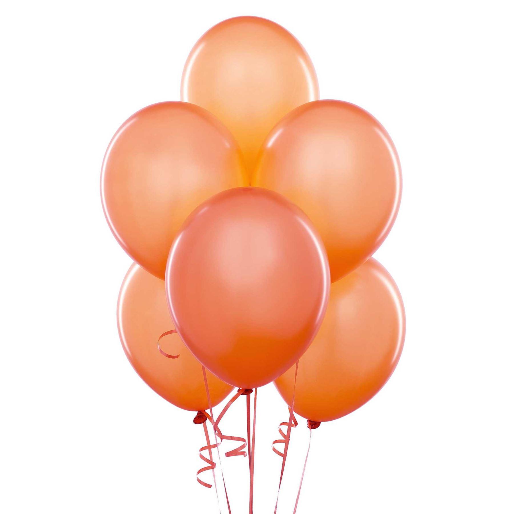 "10 pcs 12"" Metallic Orange Colour Latex balloons birthday party celebrations"