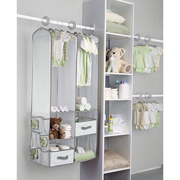Walfront Baby Nursery Closet Organizer