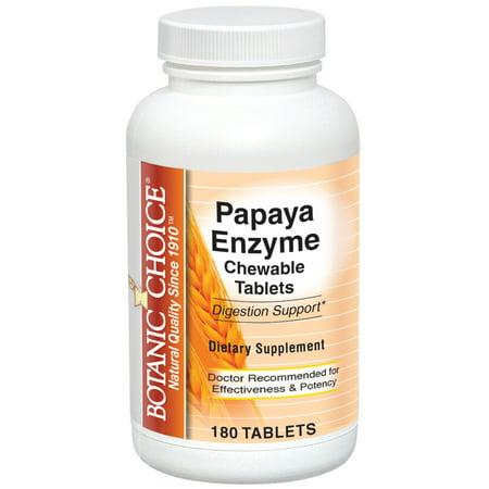 Botanic Choice enzyme de papaye à croquer Tabs, 180 Ct