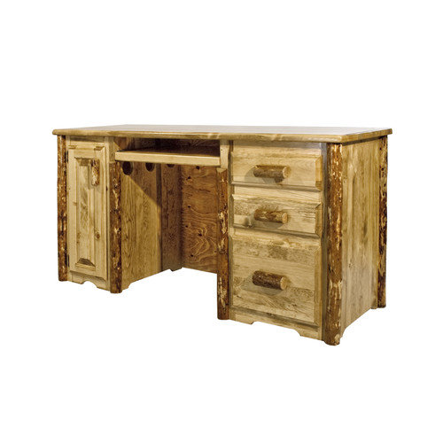 Montana Woodworks Glacier Country 3 Drawers Tower Slideout Computer Desk