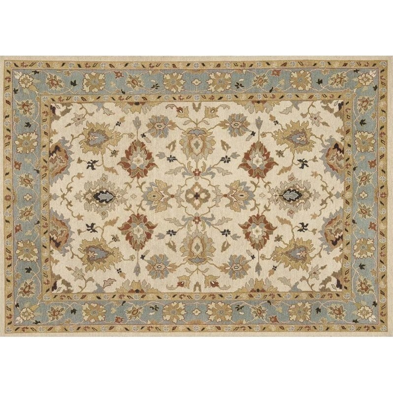 Loloi Rugs Laurent 04BESC Hand Knotted Wool Transitional Area Rug