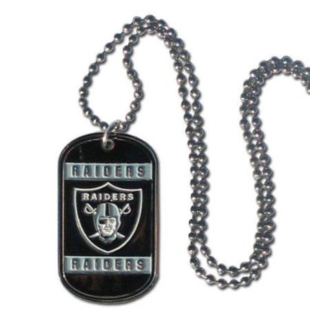 Oakland Raiders Dog Neck Tag Necklace Officially Licensed NFL Football Team Logo By - Raiders Necklace