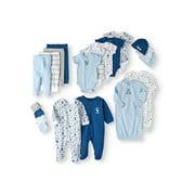 Garanimals Newborn Baby Boy Shower Gift Set, 20-Piece, Preemie-6/9 Months