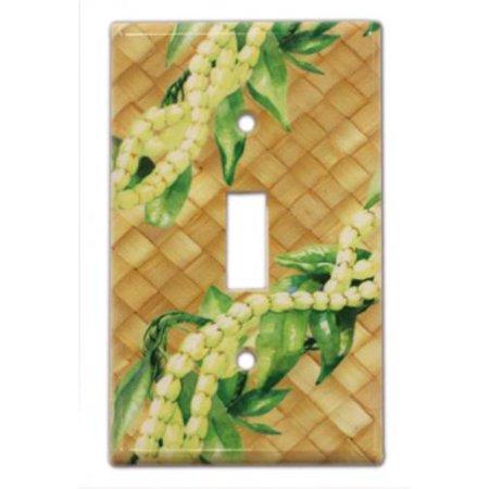 Hawaiian Switchplate Cover Pikake Maile Lei (Maile Lei)