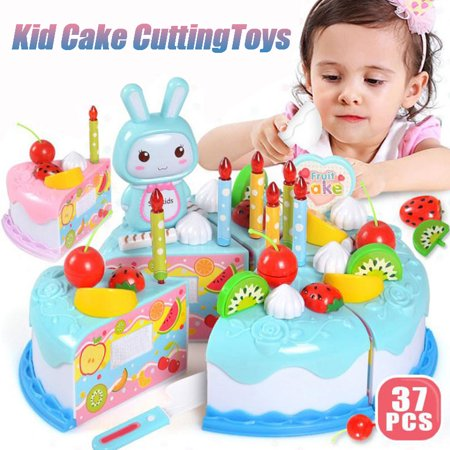 Surprising Play Birthday Cake Childrens Day Gift Play Food Toy Set Diy Funny Birthday Cards Online Elaedamsfinfo