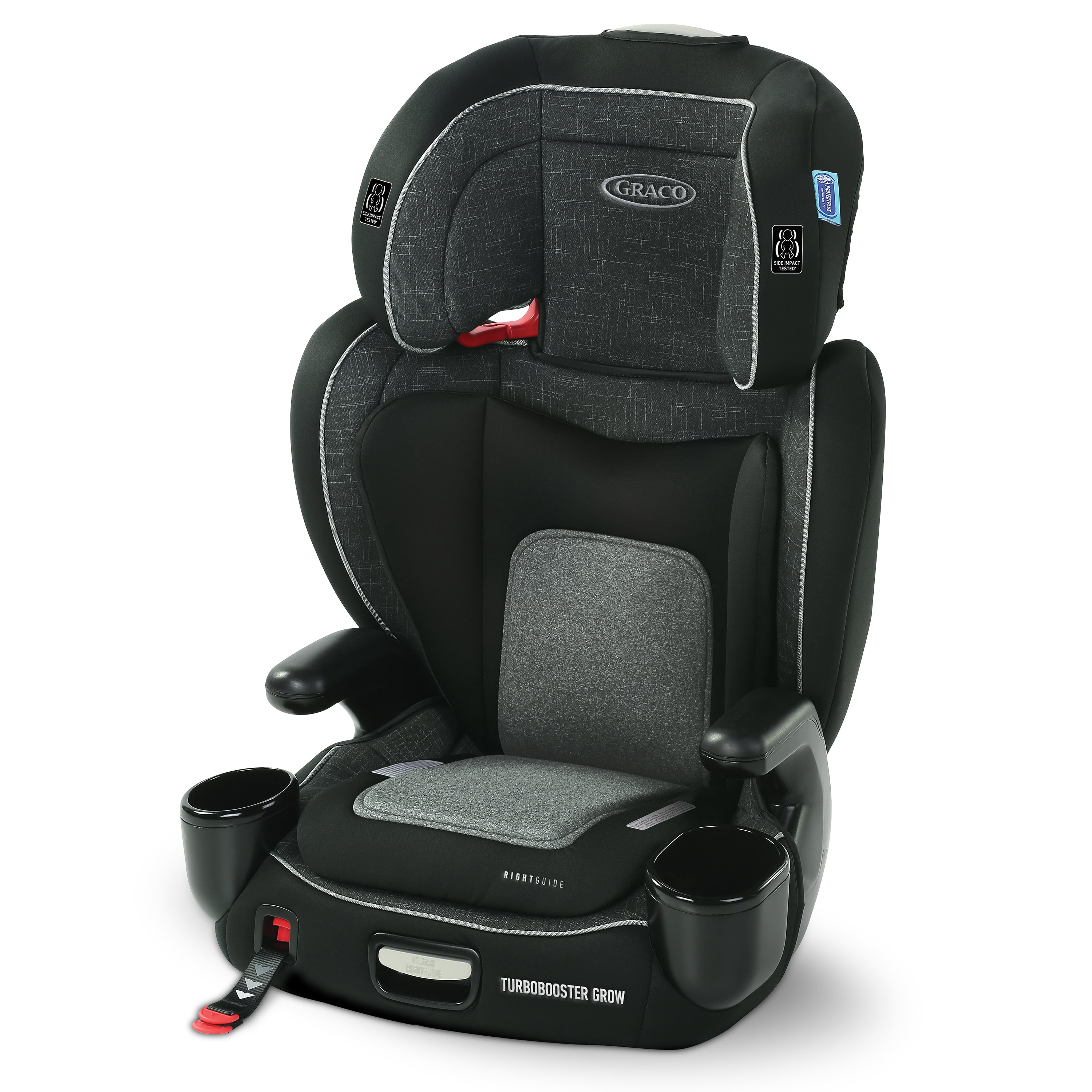 Graco TurboBooster Grow Highback Booster featuring RightGuide Seat Belt Trainer, West Point by Graco