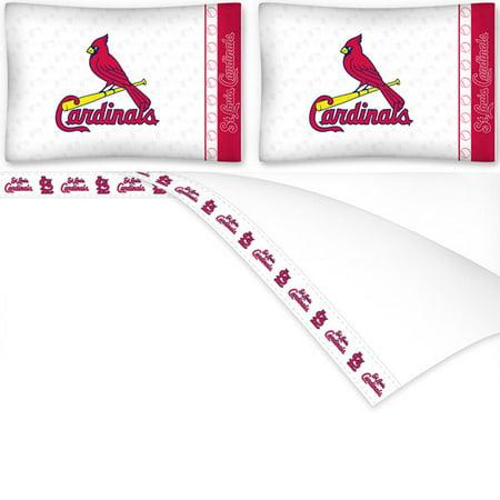 Mlb St Louis Cardinals Bed Sheets Set Baseball Bedding