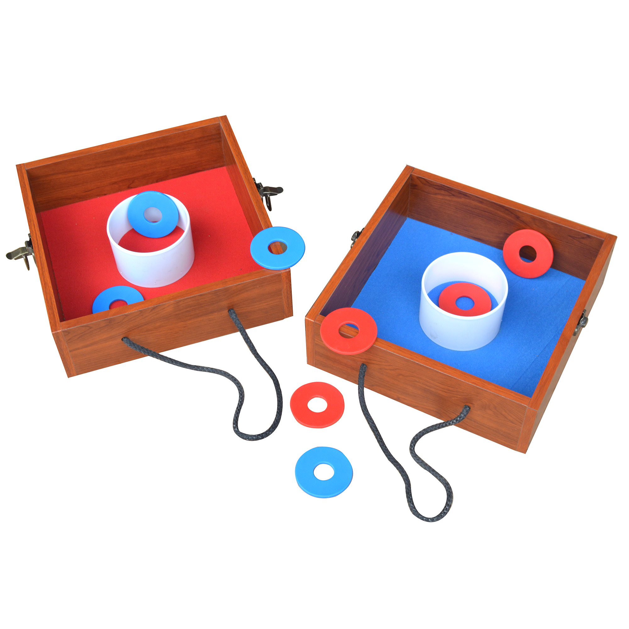 Hathaway Washer Toss Game Set w/Goal Boxes & 8 Washers - Red & Blue