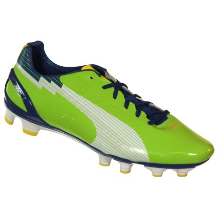 PUMA 102578 06Men's Evospeed 3 FG Soccer Cleat Green White Blue 9 ()