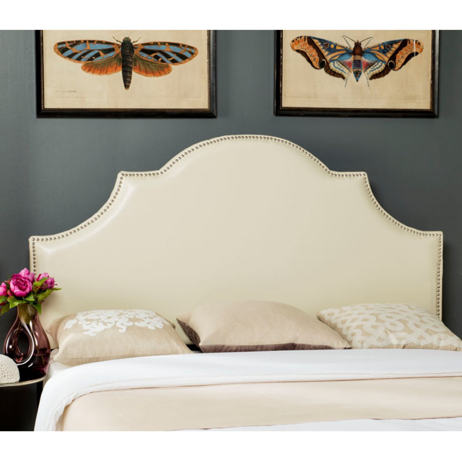 Safavieh Hallmar Upholstered Arched Headboard