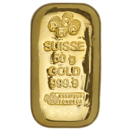 Pamp Suisse 50 Gram Cast Gold Bar (Best Gold Bars For Investment)