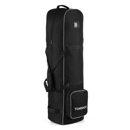 TOMSHOO Golf Bag Smooth Rolling Golf Travel Bag Cover Case Carrier with