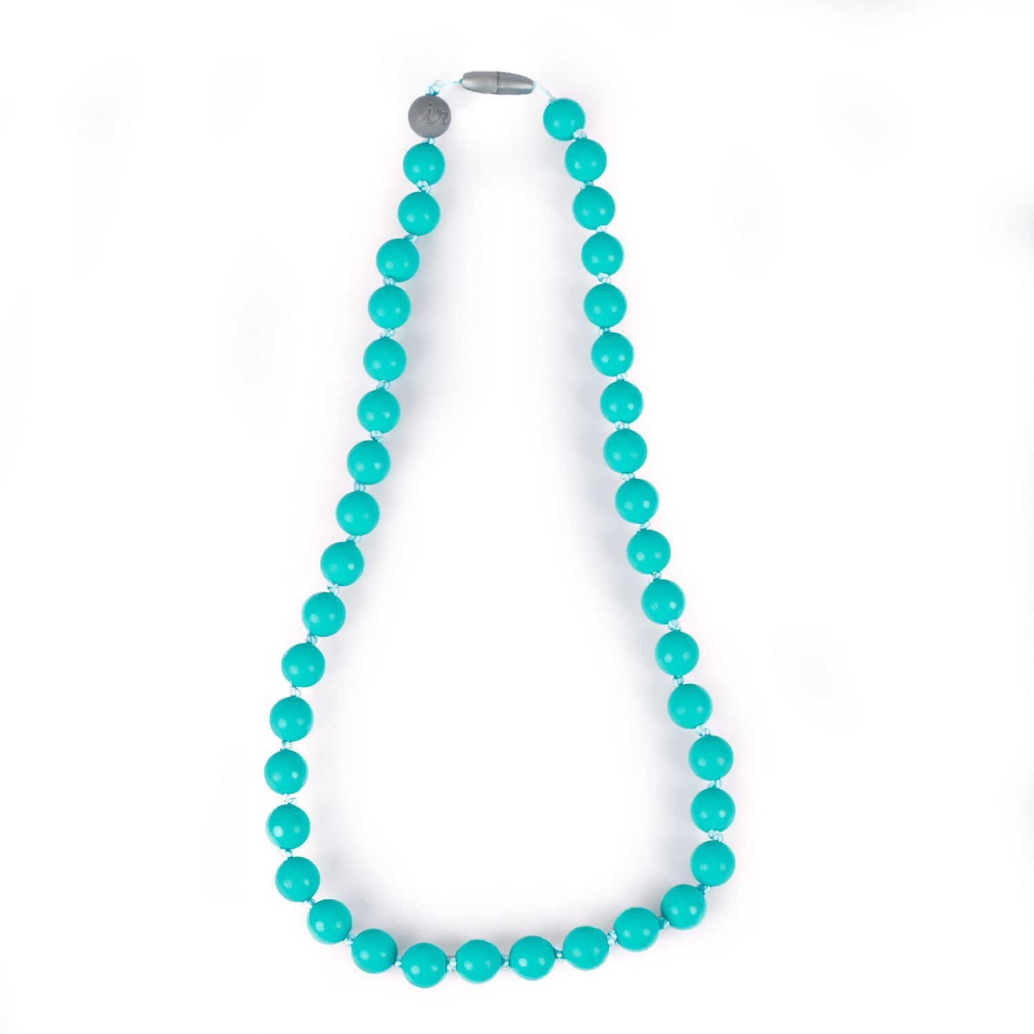 Itzy Ritzy Teething Happens Silicone Mom Jewelry Turquoise NEW Bracelet