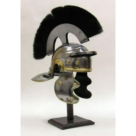 India Overseas Trading IR80670A - Roman Centurion Helmet Black Plume (Roman Helmets)
