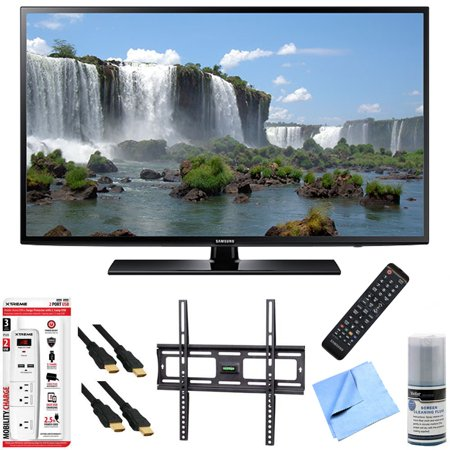 Samsung UN60J6200 – 60-Inch Full HD 1080p 120hz Smart LED HDTV Mount & Hook-Up Bundle includes UN60J6200 60-Inch 120hz Full HD 1080p Smart TV, Flat Wall Mount Kit, 6 Outlet/2 USB Wall Tap and Microfib