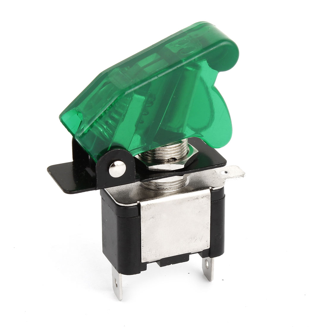 Green 12V 20A Car Truck Cover LED SPST Toggle Rocker Switch Control On/Off