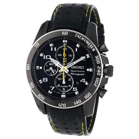 Seiko Mens SNAE65 Stainless Steel Alarm Chronograph Watch by
