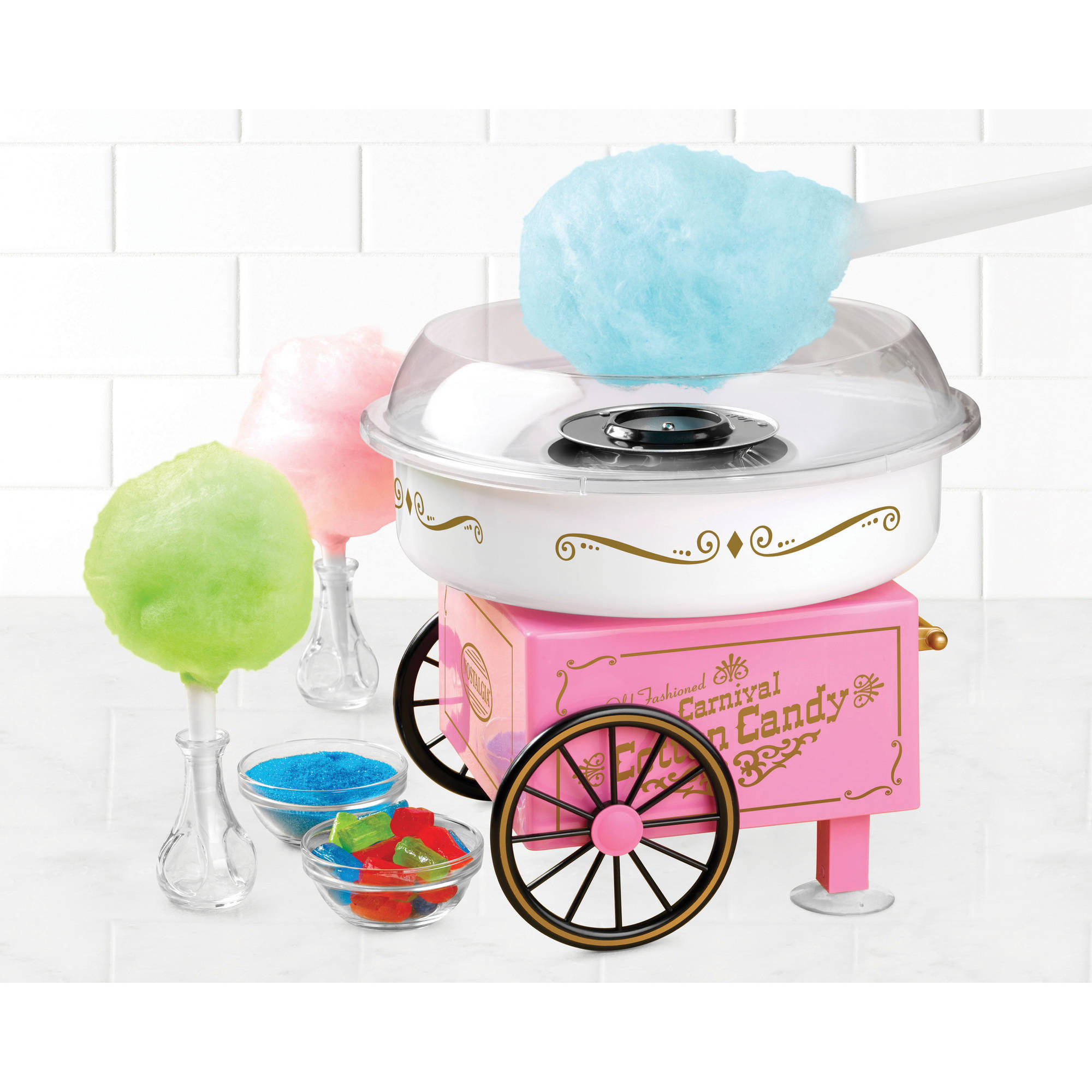 Nostalgia PCM305 Vintage Collection Hard and Sugar-Free Candy Cotton Candy Maker