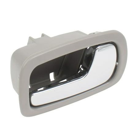 BROCK Passengers Inside Door Handle Front Chrome Lever w/ Gray Bezel Replacement for 05-10 Chevrolet Cobalt 07-09 Pontiac G5 22722746 GM1353167 Door Handle Gray Bezel