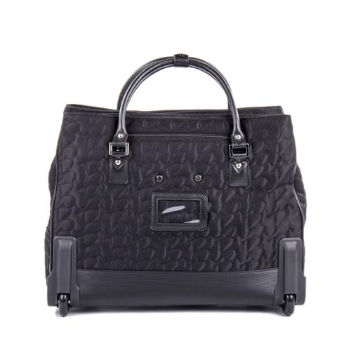 Bugatti  Women's Textured Carry On Rolling 17-inch Laptop Case