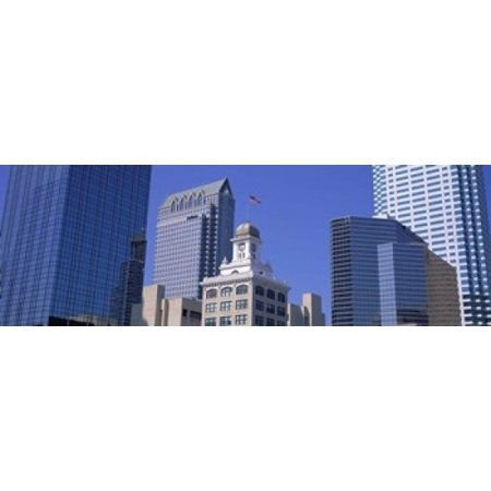 Old City Hall Cityscape Tampa FL Canvas Art - Panoramic Images (18 x 6)