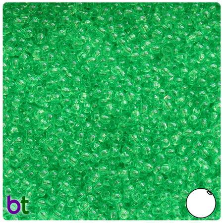 BeadTin Mint Transparent 3mm Round Plastic Beads (1oz)