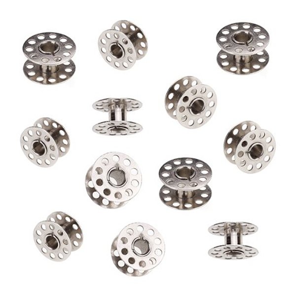 20mm Diameter Domestic Sewing Machine Metal Bobbins for Brother /Singer /Toyota /Janome (Silver), 20pcs Pack