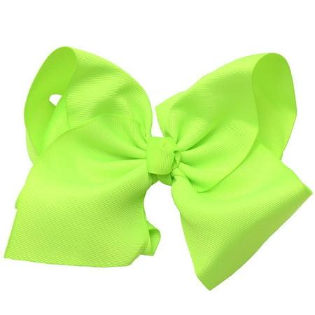 Lime Garter (Girls Lime Green Grosgrain Alligator Bow Hair Clippie )