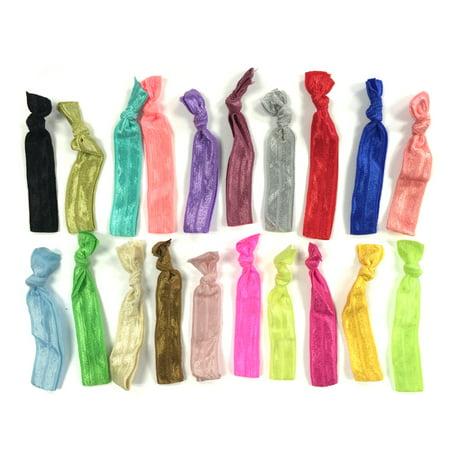 ALLYDREW 100 Pack No Crease Elastic Ribbon Hair Ties Ponytail Hair Ties  Ribbon Hair Bands 1826e846c38