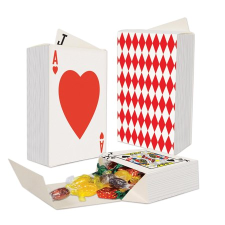 Playing Card Box (Club Pack of 36 Three-Dimensional Deck Of Playing Cards Favor Boxes)