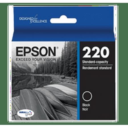 ~Brand New Original EPSON T220120 (220) INK / INKJET Cartridge Black for Expression XP-424 - image 1 of 1