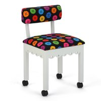 Arrow Sewing and Craft Chair with Storage, Portable, Multiple Colors