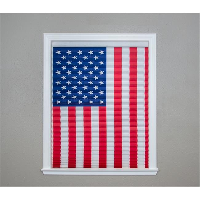 Redi Shade 1002333 American Flag Pleated Paper Shade, 32 x 64 in. - Pack of 4