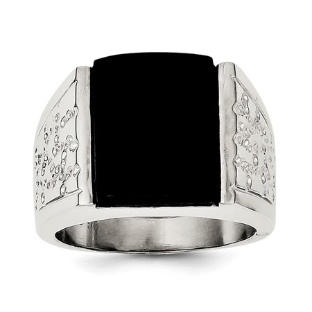 Lex & Lu Sterling Silver Onyx Men's -