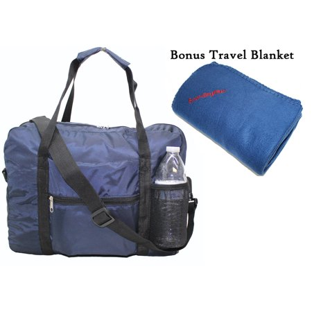 "Boardingblue Under Seat 18"" Foldable Duffel Bag Personal Item for America Southwest Airlines + Bonus. Free 2 Day-Shipping"