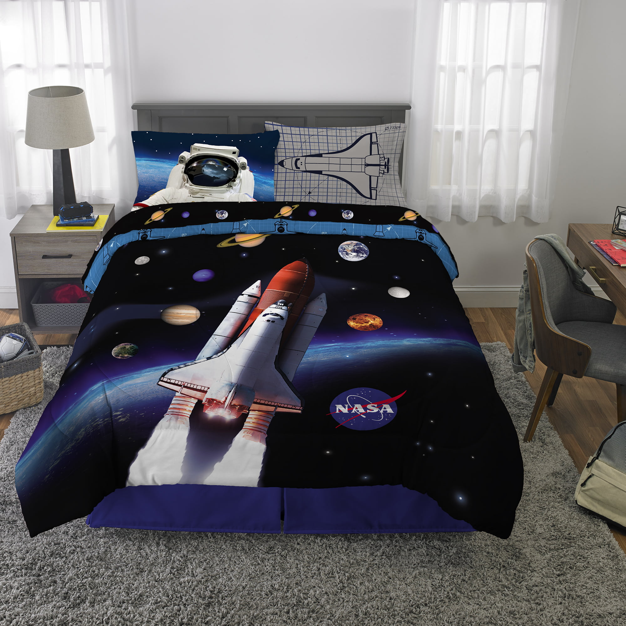 NASA Bed in a Bag Bedding Set, w/ Comforter and Sheets ...