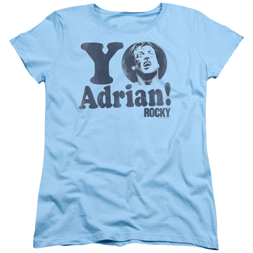 MGM Rocky Yo Adrian Womens Short Sleeve Shirt