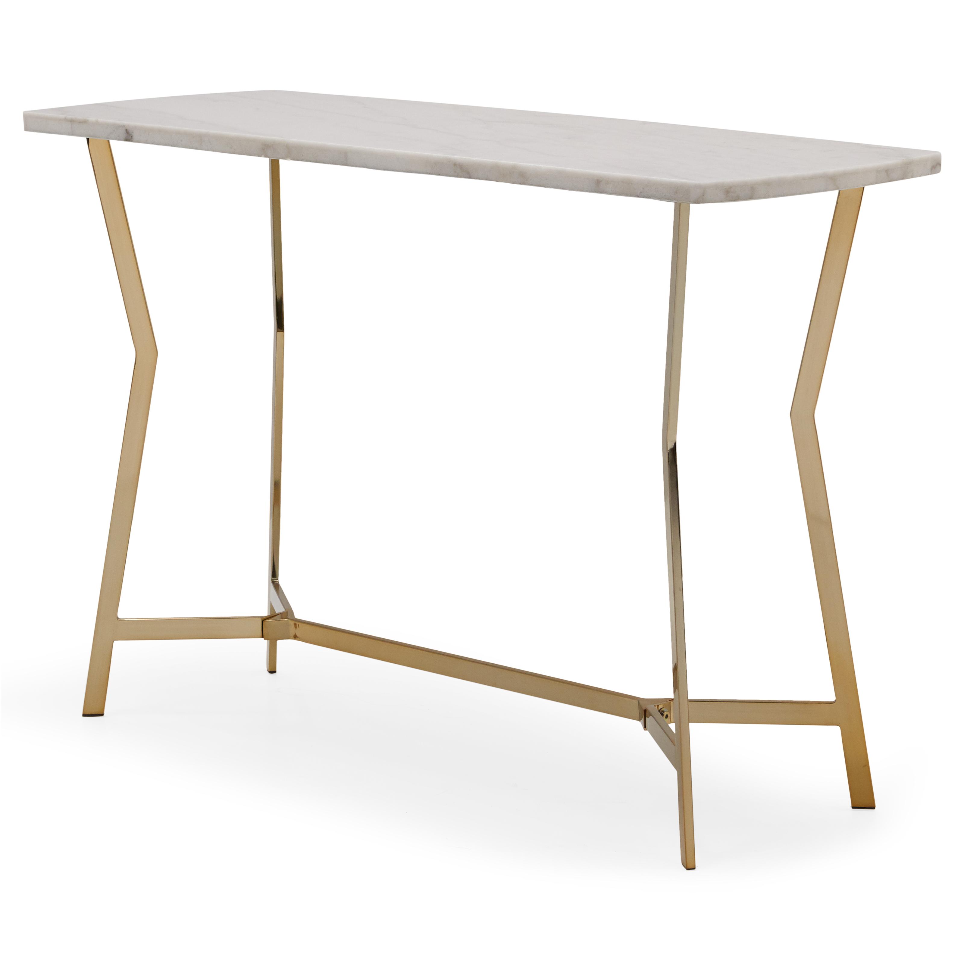 MoDRN Glam Lena Geo Base Sofa Table