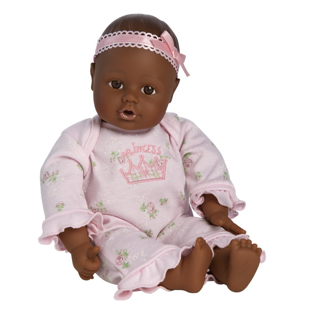 Adora Dolls Playtime Baby Doll Dark Skintone Brown Eyes Pink Romper