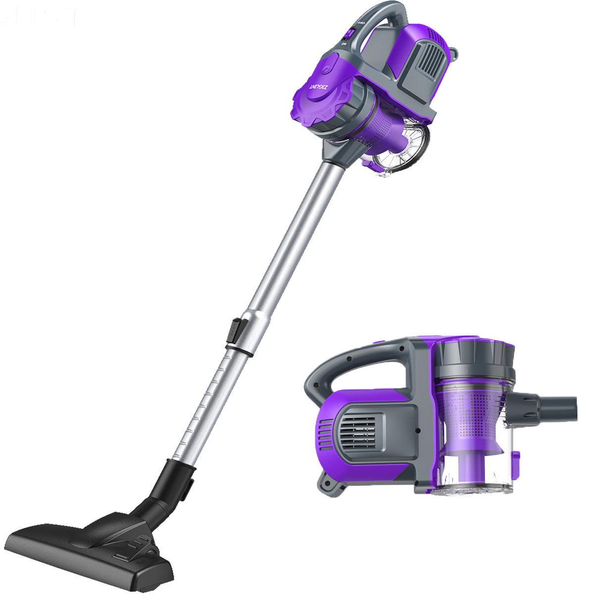 Cordless Vacuum, ZIGLINT 2-in-1 Cordless Vacuum Cleaner Handheld on Sale with Powerful Suction Re-chargeble Li-Battery for Pet Hair Car Carpet Hardwood Floor Sofa