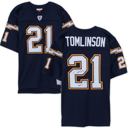 """LaDainian Tomlinson San Diego Chargers Autographed Navy Mitchell & Ness Replica Jersey with """"HOF 17"""" Inscription - Fanatics Authentic Certified"""