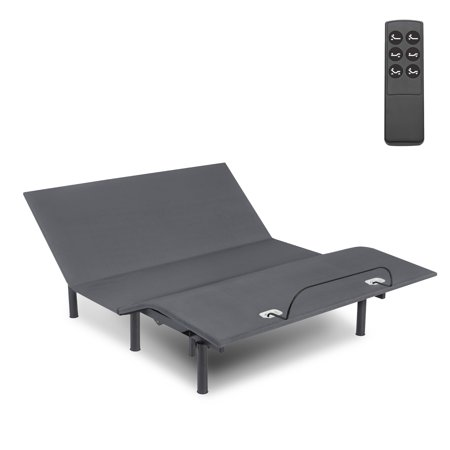 Leggett & Platt Symmetry EZ Compact Adjustable Bed Base with Head and Foot Articulation, Twin-XL - Leggett Platt Bed Rails