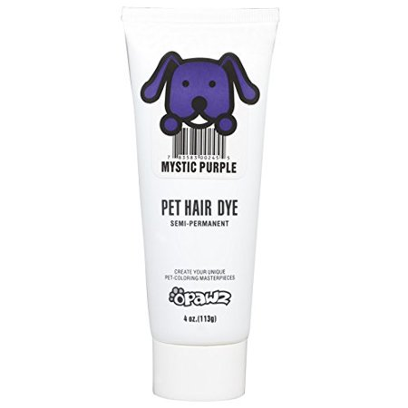 DOG HAIR DYE GEL - New Bright, Fun Shade, Semi-permanent, completely  non-toxic and safe (PURPLE)