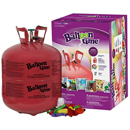 Balloon Time Disposable Helium Tank 14.9 cu.ft - 50 Balloons and Ribbon Included by Blue - Helium Tank Fill Up